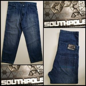 Southpole Men Denim Blue Straight Jeans Size 42